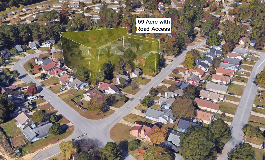 .59 Acre Lot in Full Subdivision – Fayetteville, NC – 7 Miles from Fort Bragg – 7405 sqft Lot 3 Streets Away Sold for $18,000 – This 25,700 sqft Lot is Available for $10,000 Financed with $500 Down or $8000 Cash
