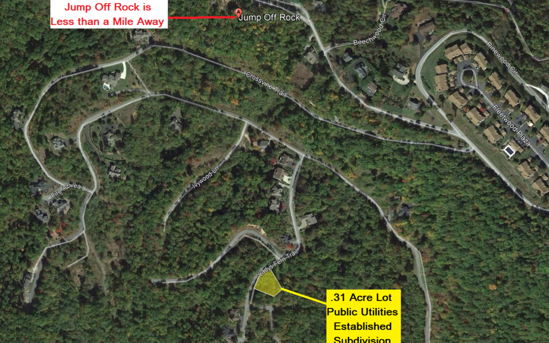 .31 Acre Lot in Gated Somersby Park Community, Laurel Park, NC – Similar Property Across the Street Listed for $45,000 – Buy Today for Only $15,000