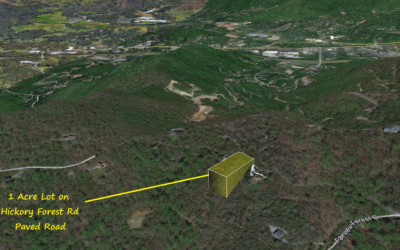 1 Acre in Fairview Forest, Fairview, NC – Asheville Metro Area – Nearby Properties at $95,000 and Up – County Values This Lot at $44,000 – BUY FOR $20,000!!