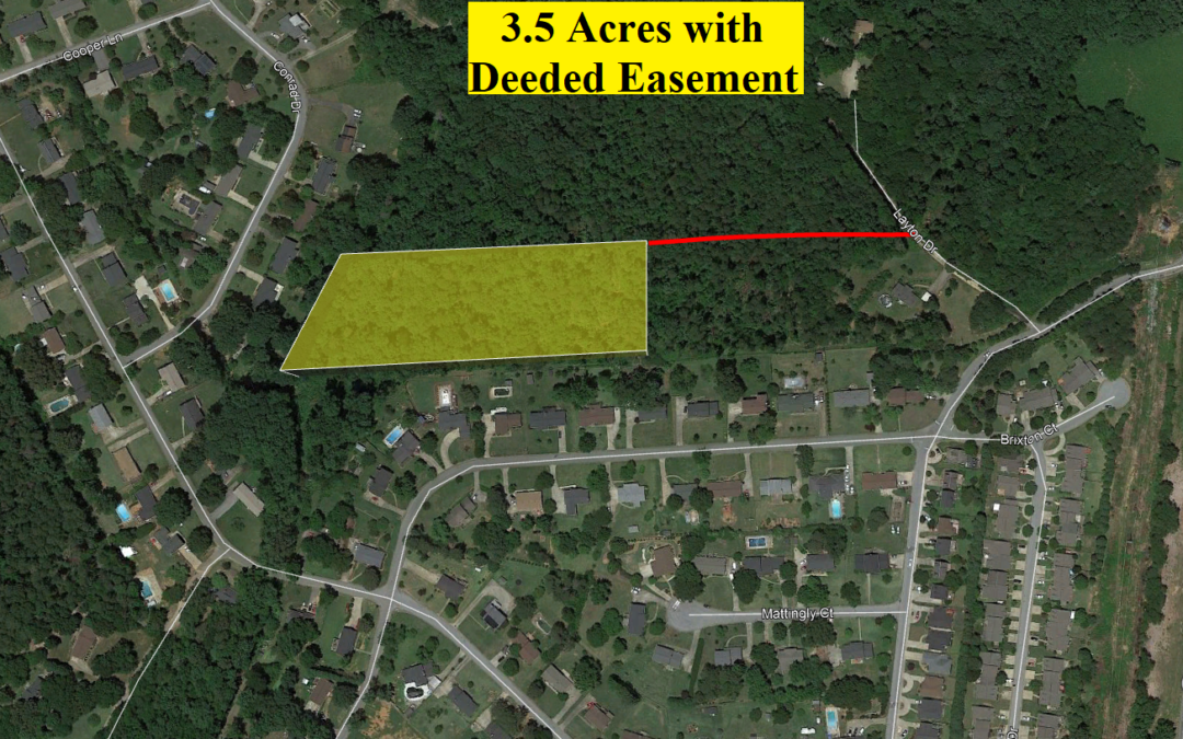 3.5 Acres in Spartanburg, SC – Great Lot for Development!  Homes All Around – Deeded Easement Giving Access!  2.1 Acres Nearby Sold for $70,000 – BUY TODAY FOR $27,000!!