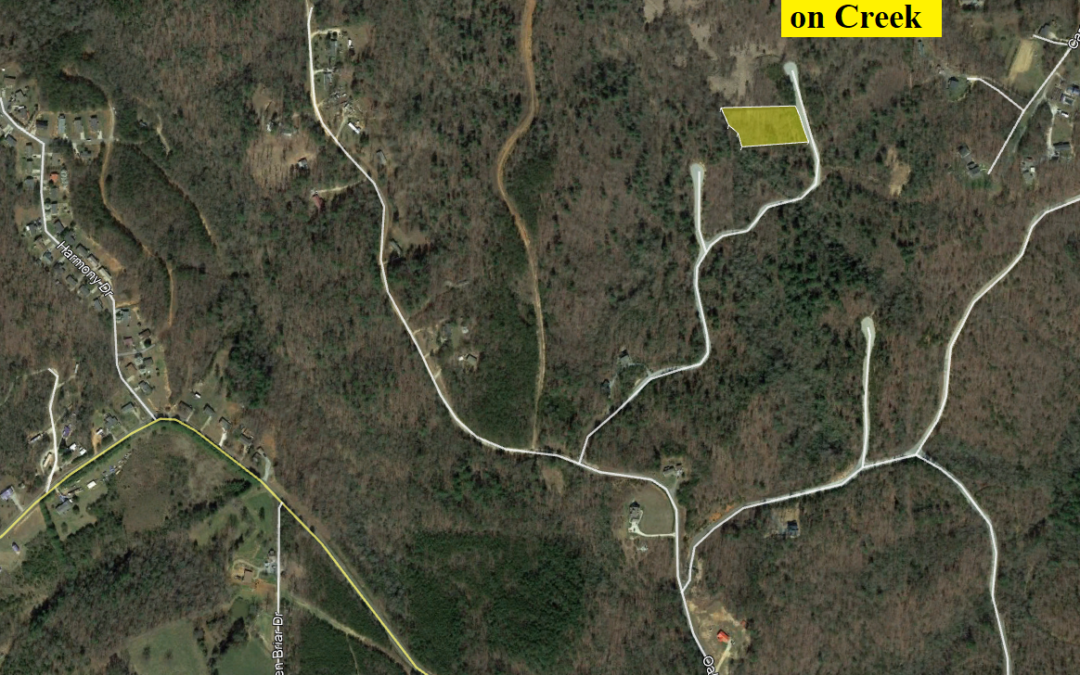 1.58 Acres in Blackberry Creek – Nebo, NC – Directly on Creek with Slight Slope – Comps from $19,000 – $27,500.  BUY FOR ONLY $14,000!!