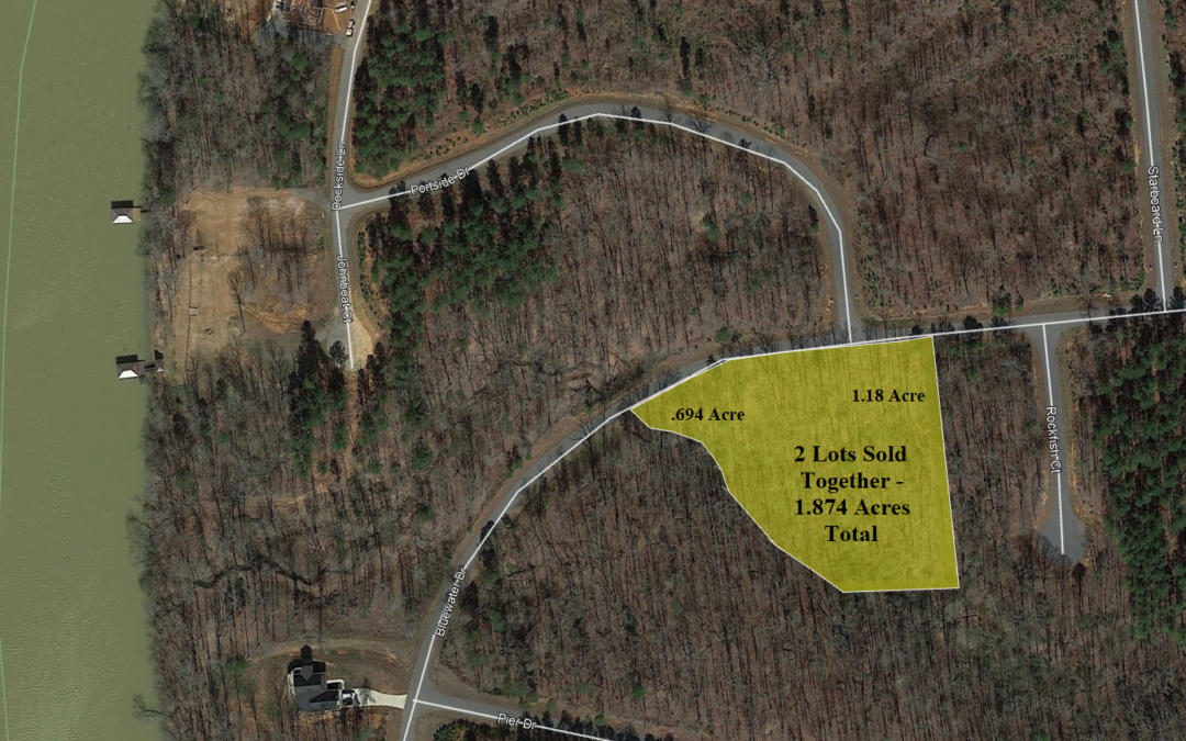 1.874 Acres in River Community – Access to Lake Norman – Statesville, NC – 2 Lots Sold Together But Both Buildable Lots – Assessed at $65,000 – BUY TODAY FOR $38,500!