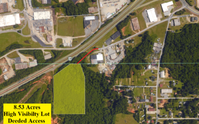 8.53 Acre Lot in Archdale, NC – Near Road with Deeded Access – Commercial Buildings Around – Frontage on US HWY 70 – Sold Comps Nearby are at $70,000 and Up – BUY FOR $39,500!