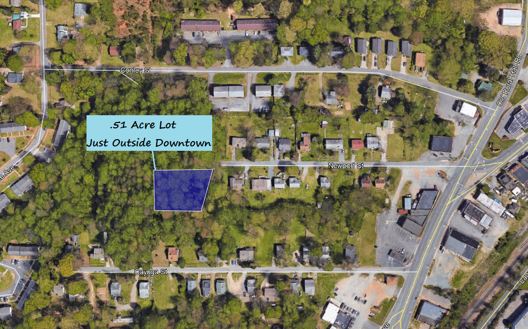 1/2 Acre Lot Just Outside Downtown Winston-Salem, North Carolina – One of Largest Properties Around – Similar Properties Sold for $18,500 to $25,000 – BUY FOR $10,000!