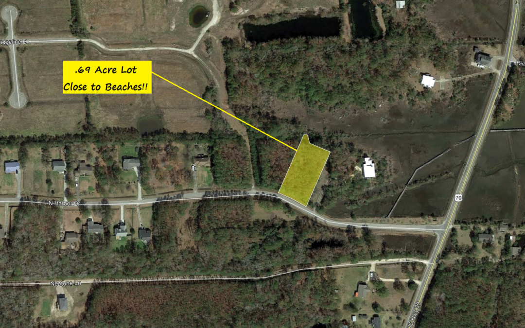 .69 Acre in Beaufort, NC – Easy Atlantic Access – Properties in Subdivision For Sale at $29,000 and Up.  Sold Comp in Subdivision at $40,000.  BUY TODAY FOR $17,000!!