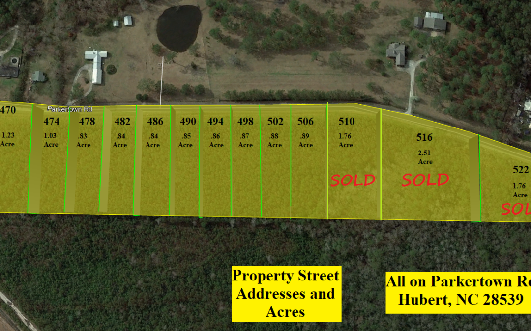 14 Building Lots Available with Improvement Permits in Hand!! – Three Sold – Buy from 1 to 11 – Package Deal Available – Available Under Comps – Ready to Build!!
