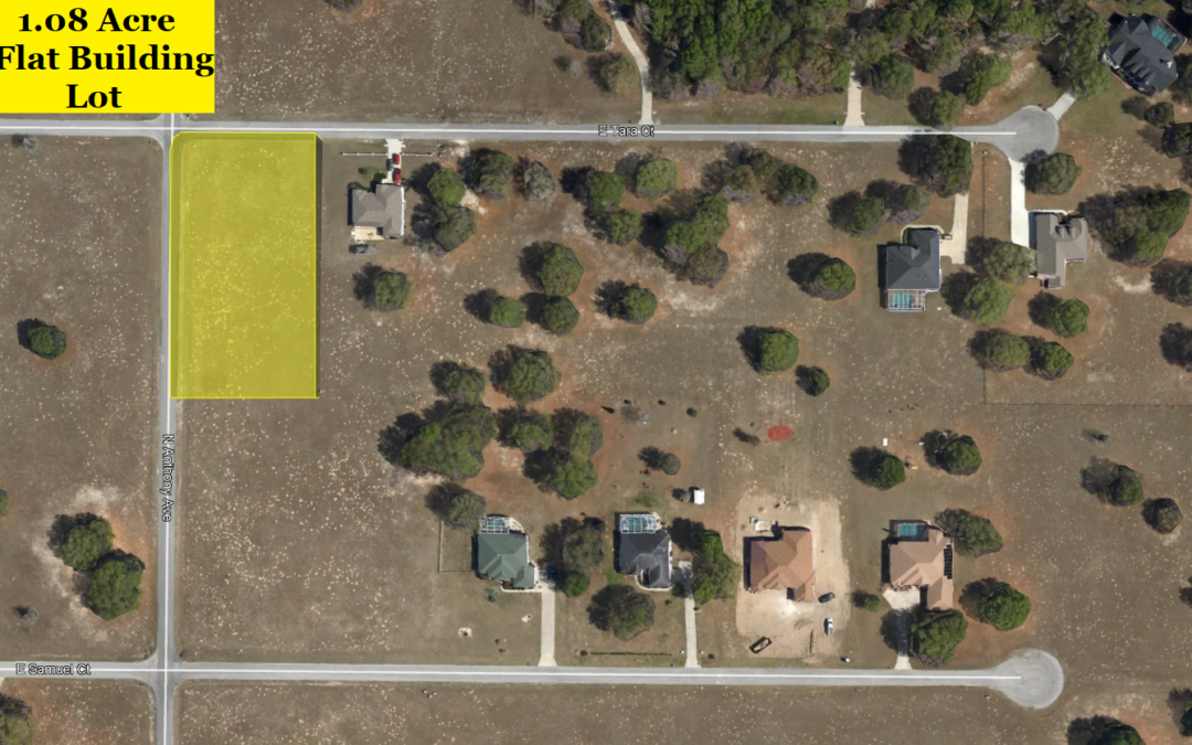 1.08 Acre Lot in Hernando, FL – Level, Cleared Lot with Public Water – Property Across the Street Sold for $14,000 – Buy for $14,000 Financed with $2000 Down or $12,000 Cash!!