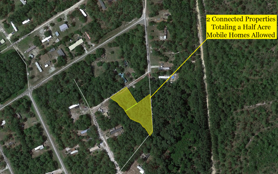 2 Lots – .49 Acre Total in Shallotte, NC – Allows Mobile Homes and Single Family – Nearby Single Lot Sold or $13,000 – Buy Both for $10,000 Financed with $1000 Down or $9,000 Cash!!