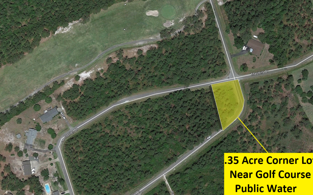 .35 Acre Corner Lot in Country Club Estates of Boiling Springs Lakes, NC – Allows Mobile Homes and Single Family – A Couple Lots Away Just Sold for $27,500!! – Buy for $14,000 Financed with $2000 Down or $12,000 Cash!!