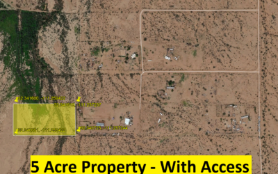 4.99 Acres with Legal Access – Picture Rocks, Tucson, Arizona – Great Recreational Lot – The Property Directly NE of This Recently Sold for $26,000 – BUY TODAY FOR $15,000!!
