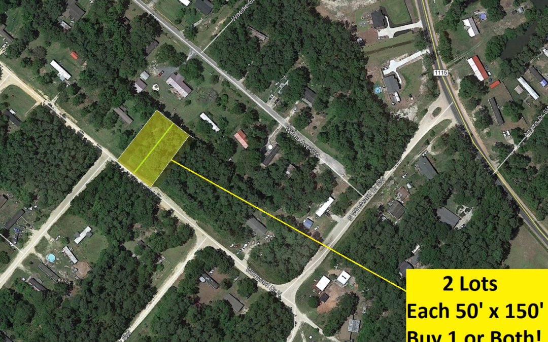 2 Connected Mobile Homes Lots in Supply, NC – Each 50′ x 150′ – Buy One or Both – Comps at $13,000 and Up – Buy Financed for $13,000 with $1500 Down!  10% Discount for Both!!