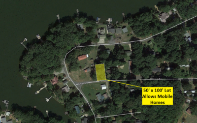 50′ x 100′ Lot – 1 Block from High Rock Lake, Allows Mobile Homes – Lexington, NC – Similar Lot Nearby Sold for $12,000 – Buy Today for $10,000 Financed or $9000 CASH!!